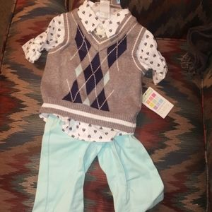 Baby boys 3 pc outfit  3/6 month